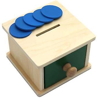 Montessori Infant Coin Box Preschool Learning Montessori Giocattoli per bambini piccoli