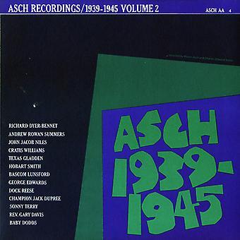 Importación de Asch Recordings - Vol. 2-Asch Recordings [CD] Estados Unidos de 1939-45