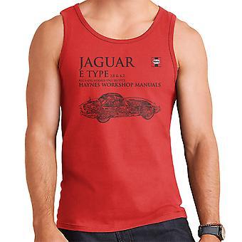 Haynes Workshop Manual 0140 Jaguar E Type 6 Cyl Black Men's Vest
