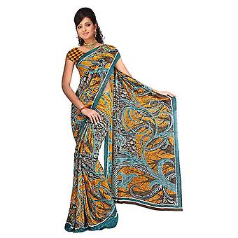 Tessuto di micheke Georgette stampata Casual Sari Sari Bellydance