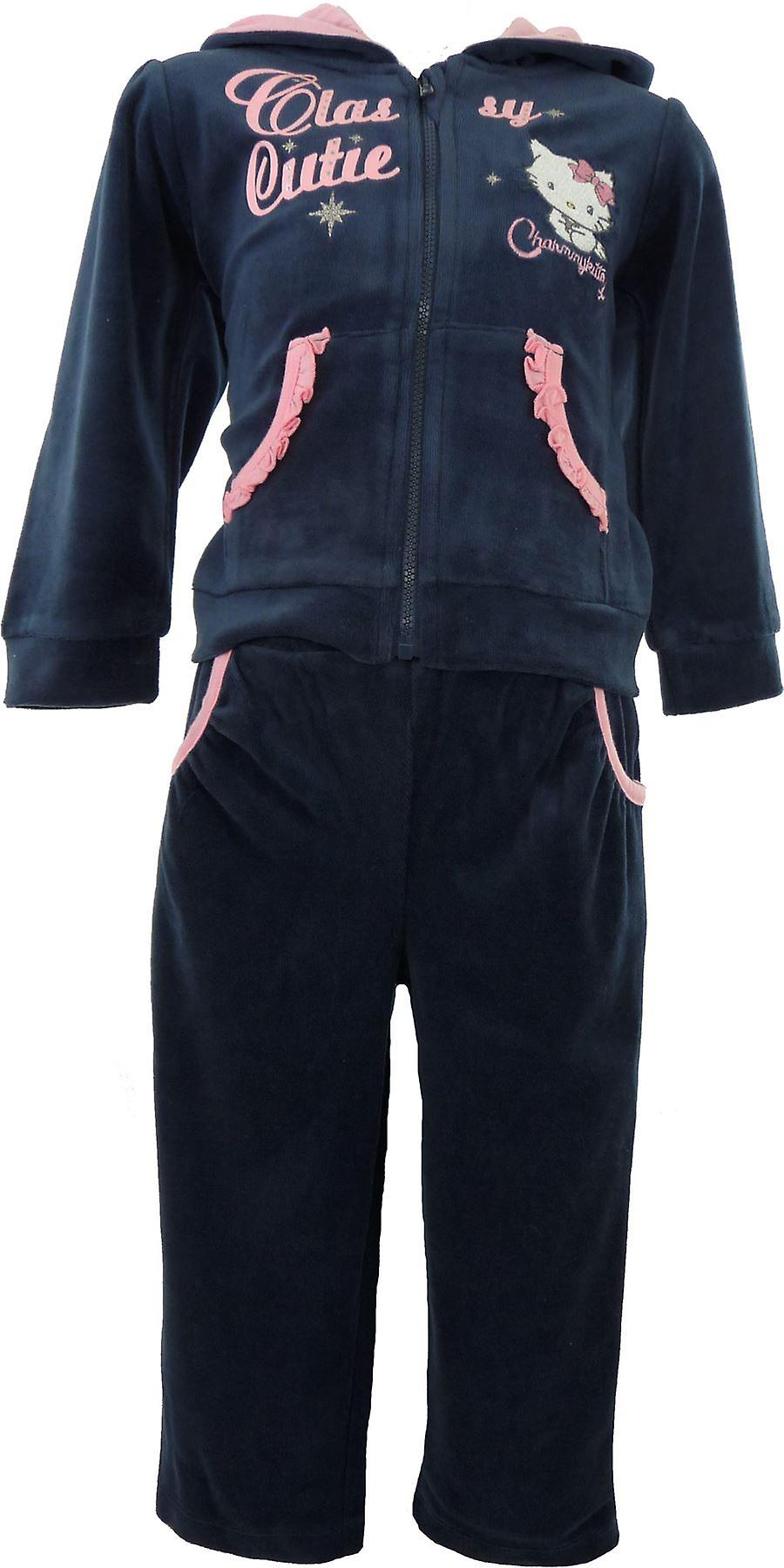 Girls Charmmy Kitty Hello Kitty Baby Velvet Knitted Tracksuit