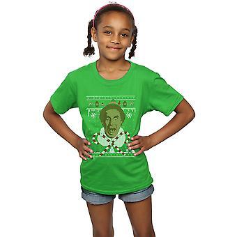 Elf Girls Christmas Fair Isle T-Shirt