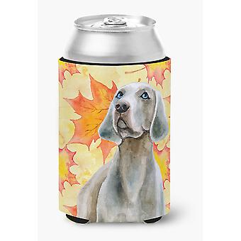 Carolines Treasures  BB9935CC Weimaraner Fall Can or Bottle Hugger