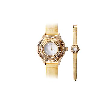Watch adorned with Golden Swarovski Crystal