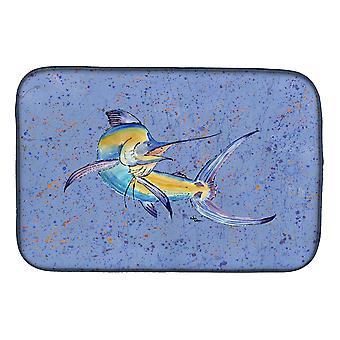 Carolines Treasures  8350DDM Blue Marlin Dish Drying Mat