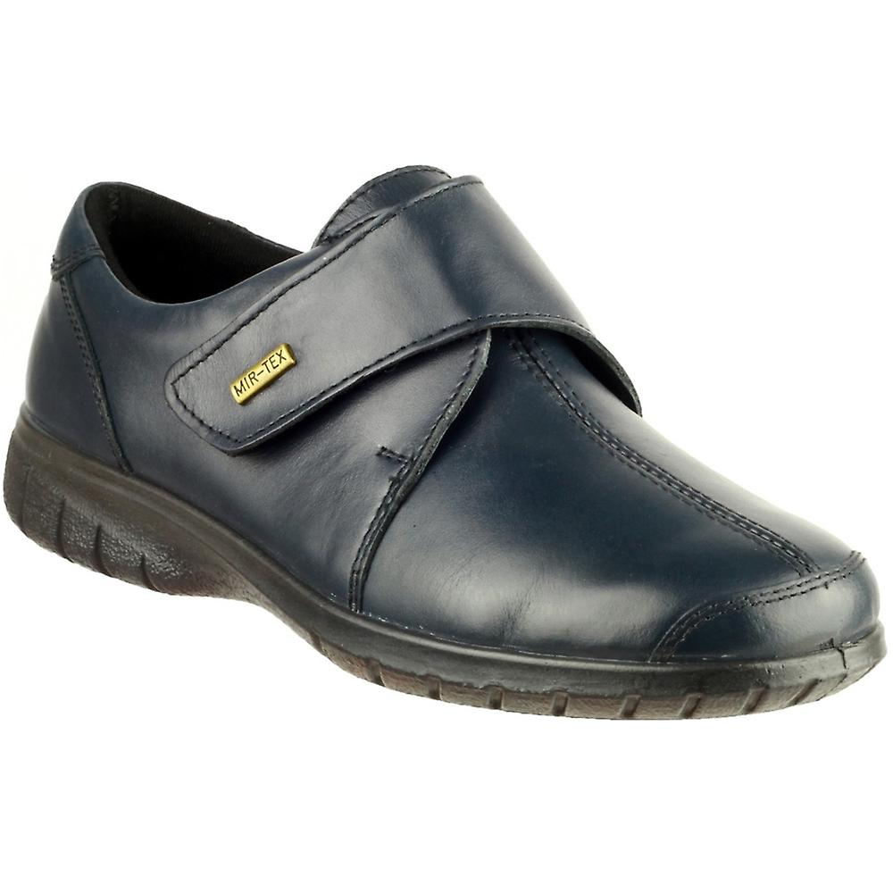 Cotswold Ladies Cranham Touch Fastening Leather Waterproof Shoe Navy Z2By2