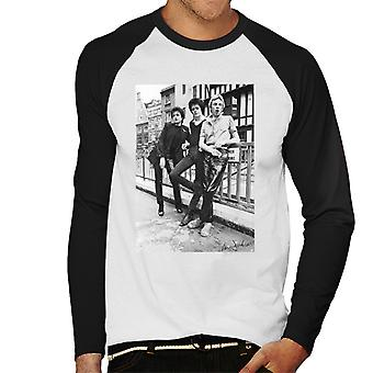Siouxsie And The Banshees In London 1977 Men's Baseball Long Sleeved T-Shirt