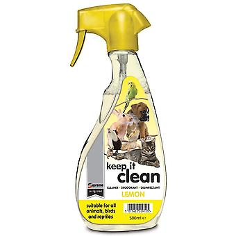 Supreme Petfoods Keep It Clean Lemon Pet Dog Cat Disinfectant Cleaner Deodorant Spray