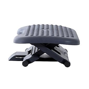 HOMCOM Footrest Adjustable Height & Angle Tilting Platform Home Office Foot Rest