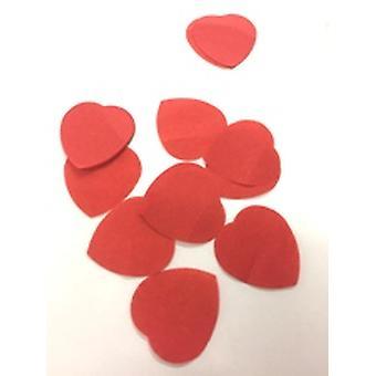 Suuri punainen sydän kudoksen Confetti - 100gm