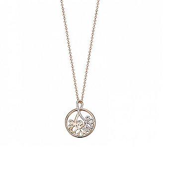 ESPRIT women's kedja halsband silver Rosé Elicate bukett ESNL93178A420