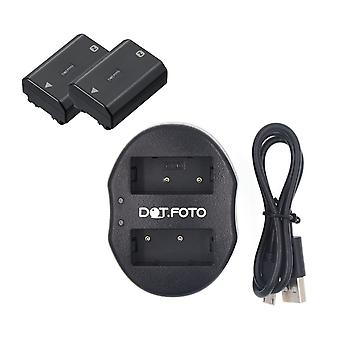 Dot.Foto Sony NP-FZ100 Replacement Battery 1780mAh (2-pack) + Dual USB Charger - Sony Alpha ILCE-7M3 (alpha 7 III / A7 III), ILCE-7RM3 (alpha 7R III / A7R III), ILCE-7RM4 (alpha 7R IV / A7R IV), ILCE-9