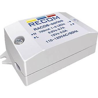 Recom Lighting RACD06-350 Constant current LED driver 6 W 350 mA 22 V DC Max. operating voltage: 264 V AC