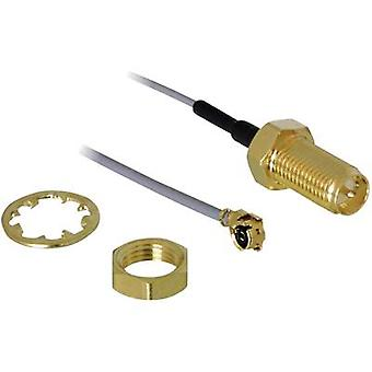 Lås Wi-Fi-antenner Kabelförlängning [1x IPEX-kontakt - 1x RP-SMA-uttag] 20,00 cm Grå guldpläterade kontakter