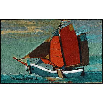 Salon lion doormat sail away 50 x 75 cm Rosina Wachtmeister Maritimes subject
