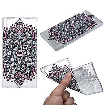 Henna dekking voor Sony Xperia XA2 gevaldekking van het beschermende siliconen kleurrijke tattoo