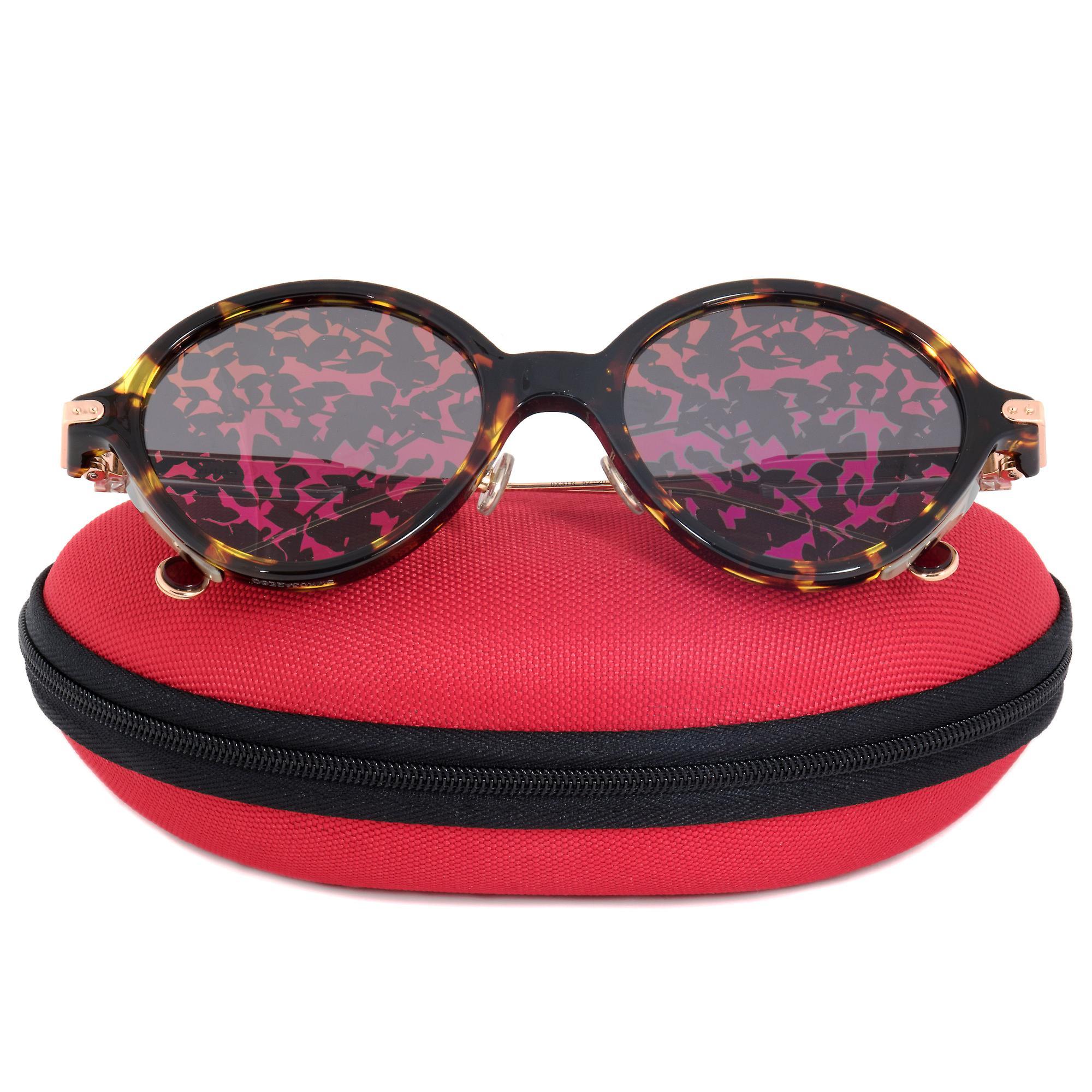 Christian Dior Umbrage OX3TN Sunglasses   Tortoise/Pink Temples & Purple Patterned Lens