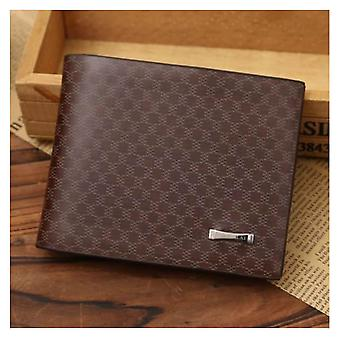 GENUINE Leather Wallet Men's Brown Money Purse SIM ID Holder