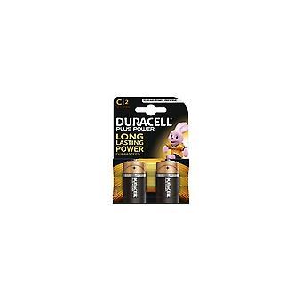 Duracell Plus Power 10 Jahre Baby C Alkaline Batterien 2 Stück.