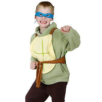 Teenage Mutant Ninja Turtles Blue Leonardo Boys Costume Mask Turtle Shells Kit