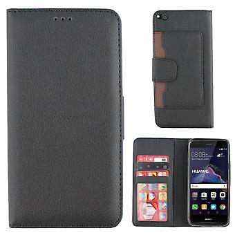 Colorfone Huawei P9 kleine 2017 Geldbörse Tasche (schwarz)