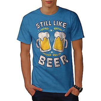 Like beer funy Men Royal BlueT-shirt   Wellcoda