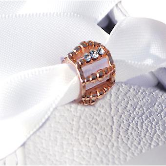 Rose Gold Crystal Toggle Shoe Charm