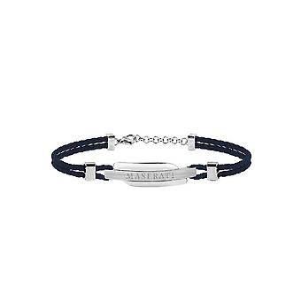 MASERATI - bracelet - men's SIGNATURE steel leather - JM417AKW06