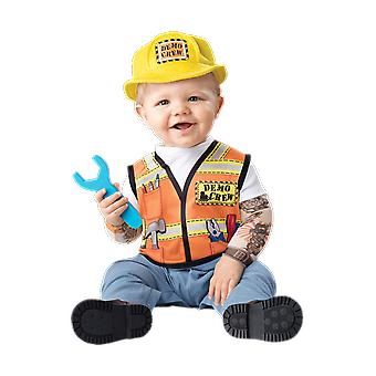 Baby Age 6-24 Months Builder Costume Workman Uniform Toddler Fancy Dress