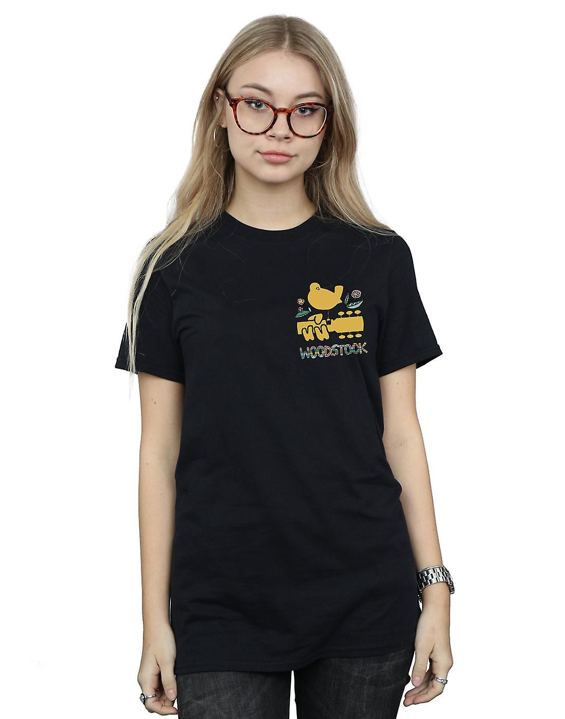Woodstock Women's Breast Logo Boyfriend Fit T-Shirt