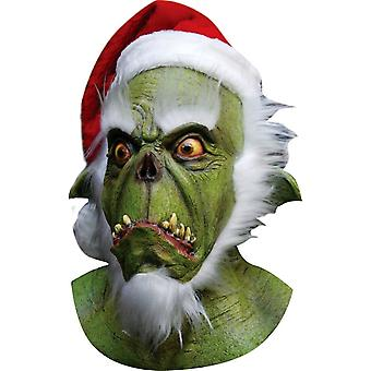 Green Santa Latex Mask For Halloween