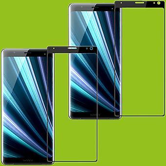Sony xperia 10 plus 2 x 4 d premium 0,3 mm H9 kaareva kova mustaan diaan suojaa suojalasi uusi