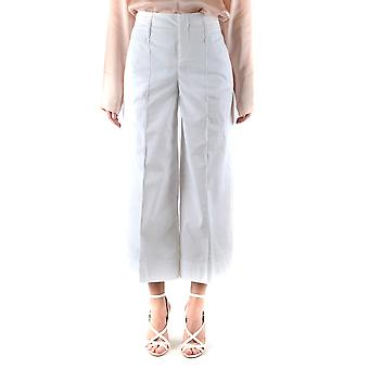 Fay Ezbc035059 Women's White Cotton Pants