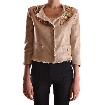Elisabetta Franchi Ezbc050032 Women's Gold Cotton Blazer