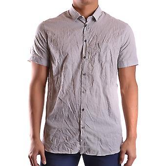 Neil Barrett Ezbc058017 Men's Camisa de Algodão Cinza
