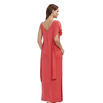 Féraud 3195032-10031 Women's Voyage Coral Orange Beach Dress