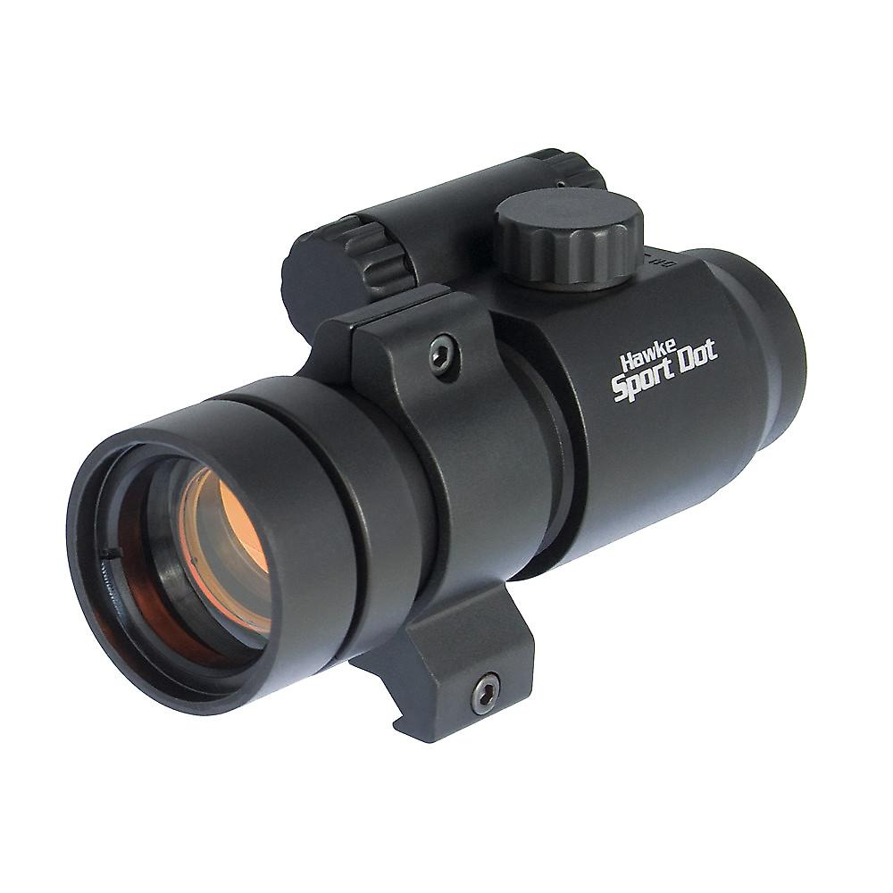 Hawke 1x30 Sport Red Dot rifle Scope with 9-11mm + weaver rail mounts 12100
