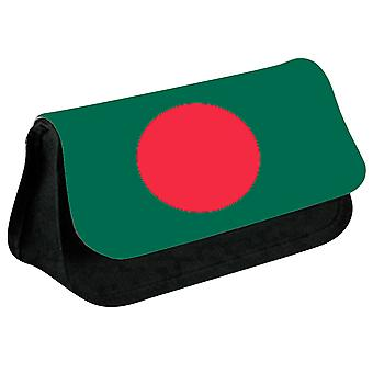Bangladesh Flag Printed Design Pencil Case for Stationary/Cosmetic - 0014 (Black) by i-Tronixs