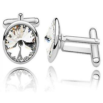 Cufflinks with swarovski elements diamond crystals dad mens unisex cuff links