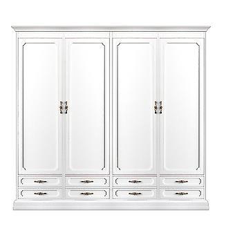4-Türen-modulare Garderobe und 8 Schubladen