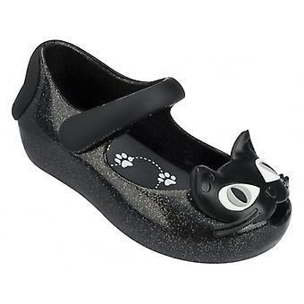 Melissa Shoes Mini Ultragirl Kitty 14, Black Glitter