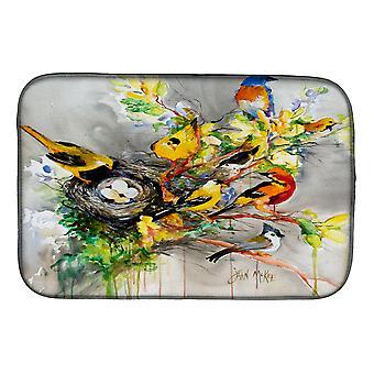 Carolines skatter JMK1024DDM våren fugler parabolen tørking matte