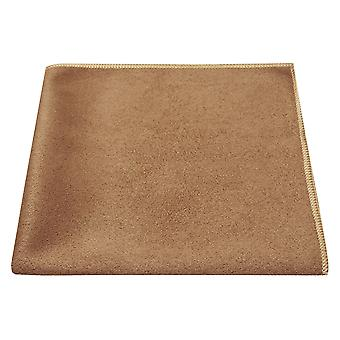 Luxus Golden Brown Wildleder Pocket Square, Taschentuch