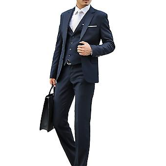 Allthemen Mens 2pcs silm Fit Solid 2 peças terno (blazer & Pants)