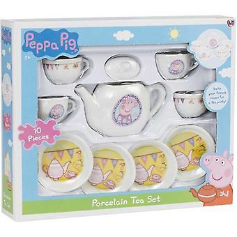 Greta Gris/Peppa Pig, porcelain tableware (10 pieces)