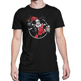 Harley Quinn nietoperze Goes Boom mężczyźni ' s T-shirt