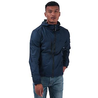 Mens Duck And Cover Goodman Lightweight Jacket In Navy- Zip Fastening- Popper