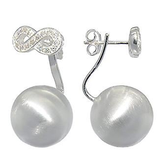 Melina ? Women's earrings with combination in the shape of a symbol of the' infinity and silver sphere 925 with zircons ? 1500233