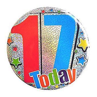 Kaleidoscope Jumbo Birthday Badge 17 Today