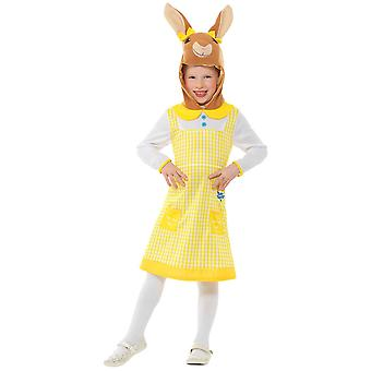 Deluxe Peter Bunny Cottontail Kız Çocuk Kostüm Toddlers Carnival Tavşan